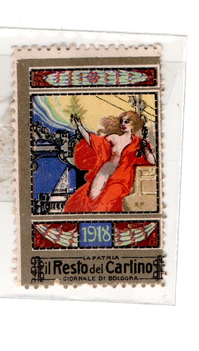 erinnofilo - 1918 il resto del carlino - bologna