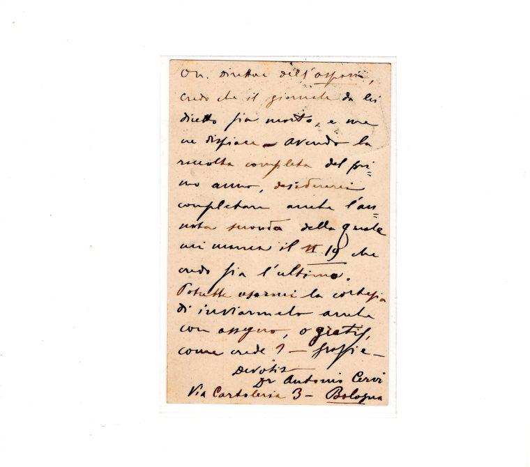 retro - cartolina postale il resto del carlino 1901
