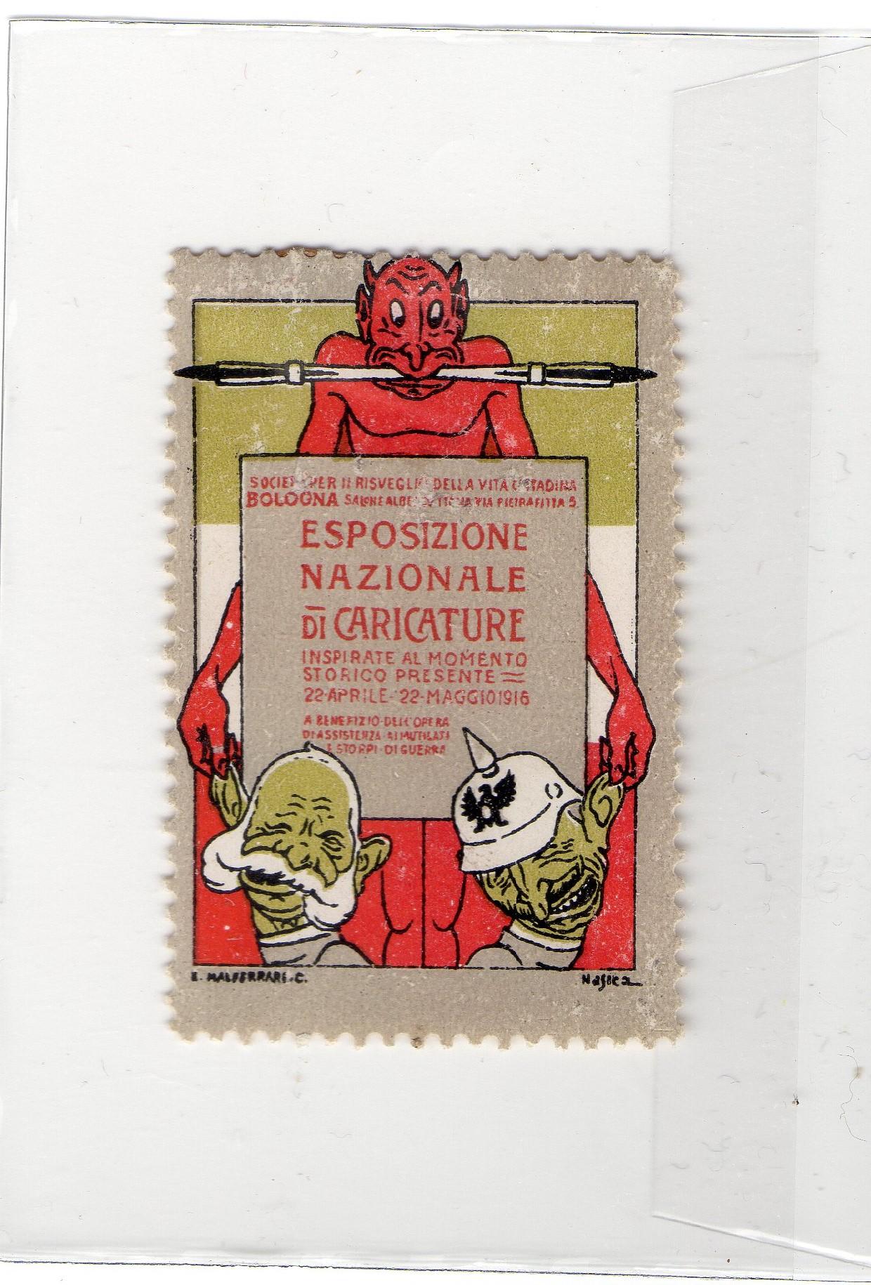 Erinnofilo Esposizione Nazionale di Caricature