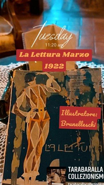 La Lettura Marzo 1922 Illustratore: Brunelleschi